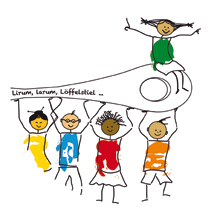 Logo der Kinderteller, die es in unseren Mensen gibt.