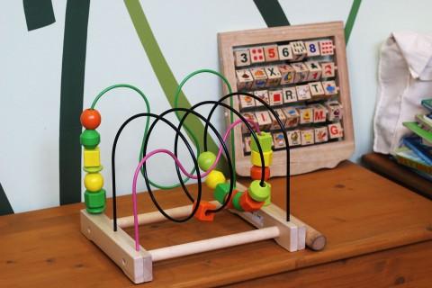 Motorik-Spielgerät im Eltern-Kind-Raum in der Mensa Stadtmitte