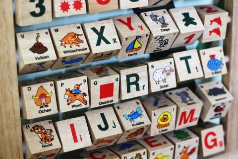 Spielzeug im Eltern-Kind-Raum in der Mensa Stadtmitte