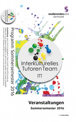 """Titelseite des Folders """"ITT-Veranstaltungen im SS 2016"""""""