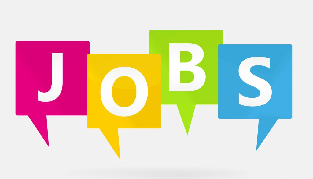 """Bunte Buchstaben """"Jobs"""""""
