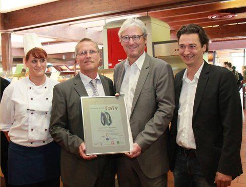Auszeichnung der Mensa Darmstadt mit Jochen Partsch