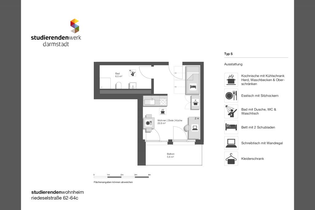 Wohnheim rest Riedeselstr. Grundriss Nr. 05