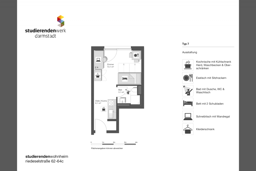 Wohnheim rest Riedeselstr. Grundriss Nr. 07